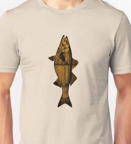 Woodgrain Striped Bass from Mass! Unisex T-Shirt