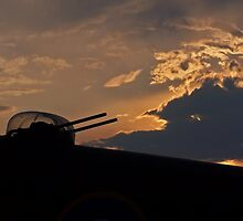 Lancaster Gun Turret at Sunset #1 by David J Dionne