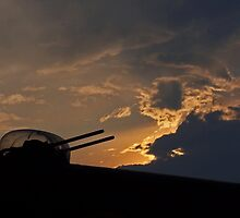 Lancaster Gun Turret at Sunset #2 by David J Dionne