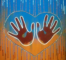 Healing Tribal Hands by Kyobe