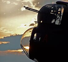 Lancaster Gun Turret at Sunset #3 by David J Dionne