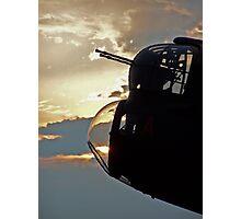 Lancaster Gun Turret at Sunset #3 Photographic Print