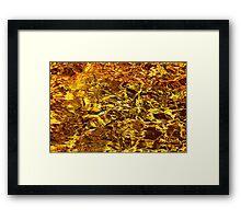 Golden Water Abstract. Feng Shui Framed Print