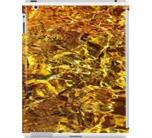 Golden Water Abstract. Feng Shui iPad Case/Skin