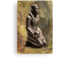 Germany. Berlin. Egyptian Museum. Sculpture of Pharaoh. Canvas Print