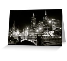 Melbourne at Night - Southbank Promenade Greeting Card