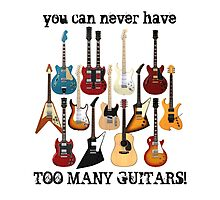 Too Many Guitars! Photographic Print