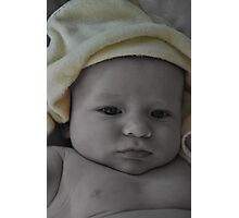 Baby After Bath Photographic Print