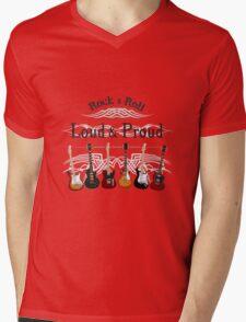 Guitars: Loud and Proud Mens V-Neck T-Shirt