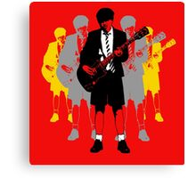 Taking the Lead - Angus Young Canvas Print