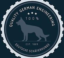 Quality German Engineering, the German Shepherd by bluegirldesign