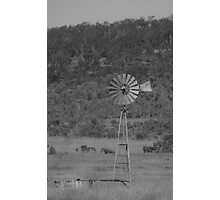 An Old Windmill - The Southern Cross Photographic Print