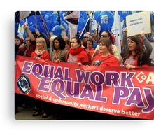 Equal Pay Rally Canvas Print