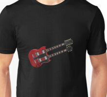 Double Neck Guitar Unisex T-Shirt