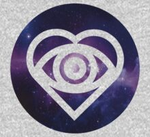 All Time Low Future Hearts Logo (Galaxy Print) by Hannah Marland