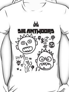 Die Antwoord - Cartoon White T-Shirt