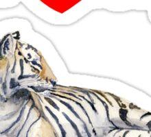 I love my tiger (for dark) Sticker