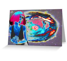 PSYCHEDELIC COSMIC WONDER Greeting Card