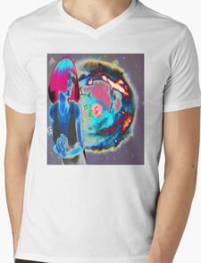 PSYCHEDELIC COSMIC WONDER Mens V-Neck T-Shirt