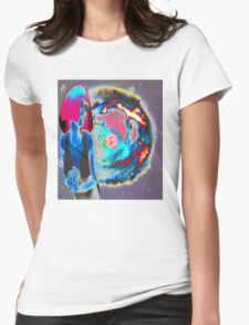 PSYCHEDELIC COSMIC WONDER Womens Fitted T-Shirt