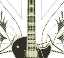Halftone Guitar and Tribal Graphics Sticker
