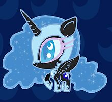 Weeny My Little Pony- Nightmare Moon by LillyKitten