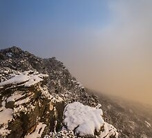 Grampians Snow Sunrise - Vertical by hangingpixels