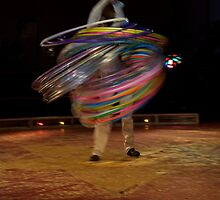 Circus Pages- Raikka does 75 hula-hoops  by jonellelyn