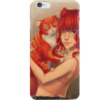 Cat red iPhone Case/Skin