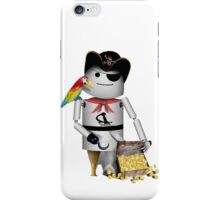 Robo-x9 Pirate with Treasure Chest iPhone Case/Skin