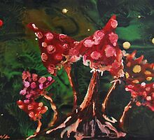 fly agaric family by Inese