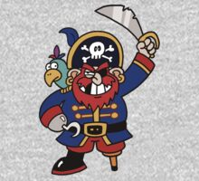 Cartoon Pirate with Peg Leg & Parrot Kids Clothes