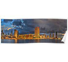 Golden buildings - Melbourne Docklands, Australia Poster