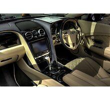Bentley Interior Photographic Print