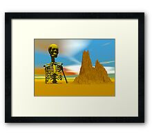 LOST IN A DESERT Framed Print