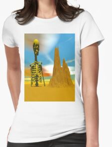 LOST IN A DESERT Womens Fitted T-Shirt