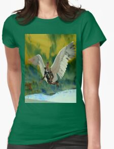 POLLUTION SKY Womens Fitted T-Shirt