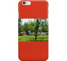Camping at Enchanted Rock iPhone Case/Skin