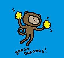 Go Bananas! Monkey by adventuretimes