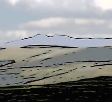 Distant Pen y Fan (Cut-Out)  by DeneWest