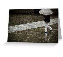 Burberry rain Greeting Card
