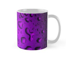 Cool Grainy Purple water drops Mug