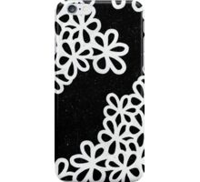 Black and White Flower Petals iPhone Case/Skin