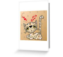Kitten with Hearts Greeting Card