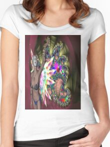 FUN AT THE FAIRGROUND Women's Fitted Scoop T-Shirt