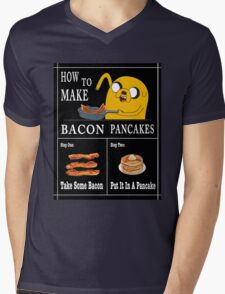How To: Bacon Pancakes Mens V-Neck T-Shirt