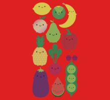 5 A Day Fruit & Vegetables One Piece - Long Sleeve