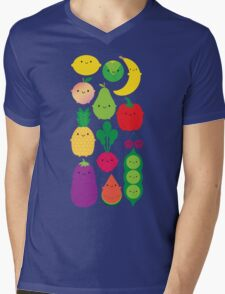 5 A Day Fruit & Vegetables Mens V-Neck T-Shirt