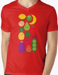 5 A Day Fruit & Vegetables Mens V-Neck T-Shirt