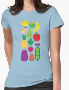 5 A Day Fruit & Vegetables Womens Fitted T-Shirt